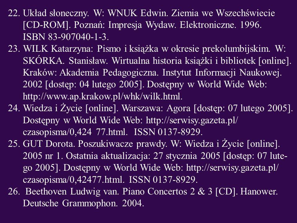 Układ słoneczny. W: WNUK Edwin. Ziemia we Wszechświecie [CD-ROM]
